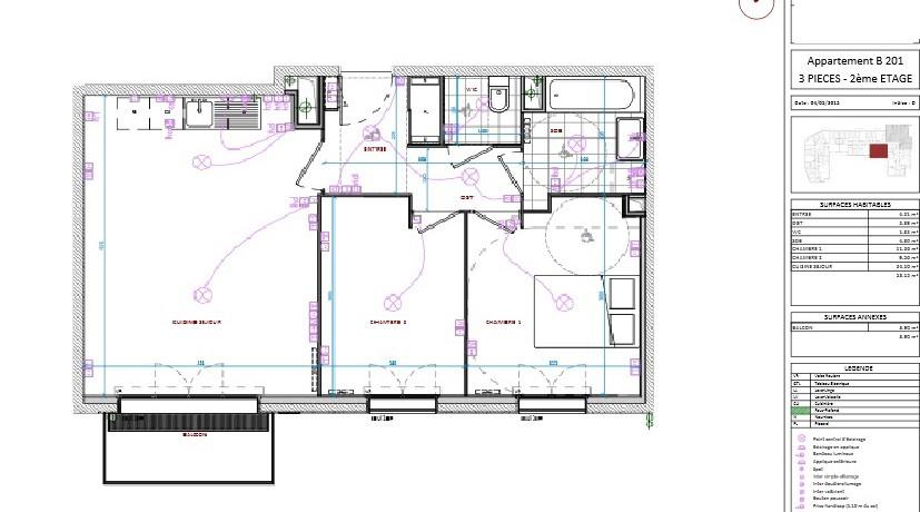 Plan - F3 - lot 201 - 216 000 euros