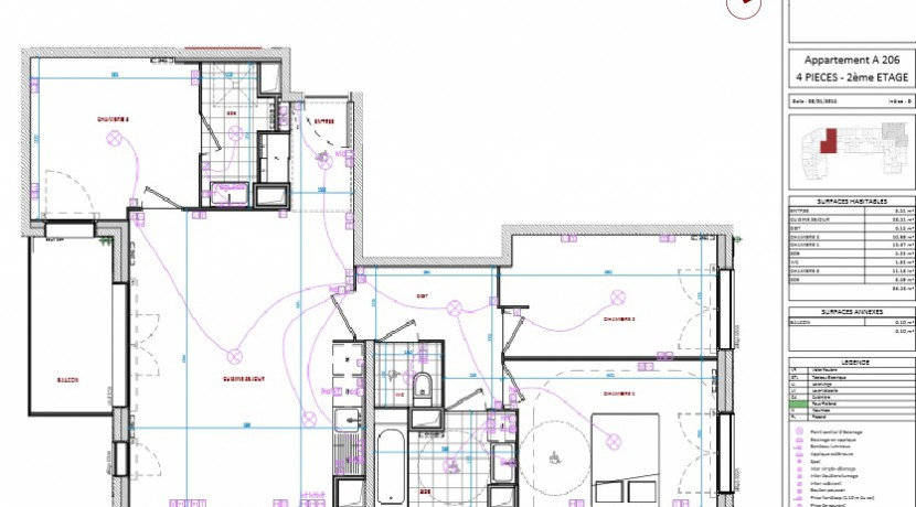 Plan - F4 - lot 206 - 278 000 euros