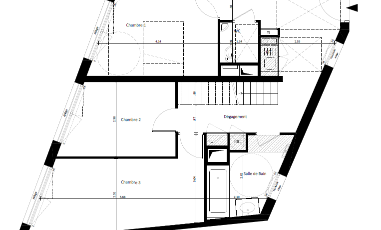 1 393 ke (F5 Duplex) - Niveau 1